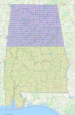 Alabama Section Township Range Map thumbnail