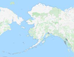 Alaska City Limits Map thumbnail