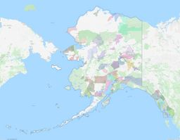 Alaska ZIP Codes Map thumbnail