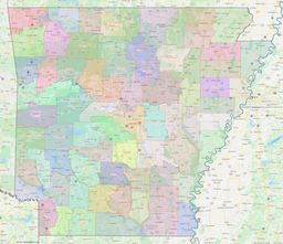 Arkansas County Lines Map thumbnail