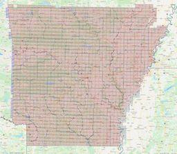 Arkansas Section Township Range Map thumbnail