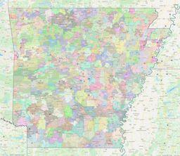 Arkansas ZIP Codes Map thumbnail
