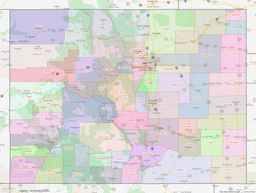 Colorado County Lines Map thumbnail