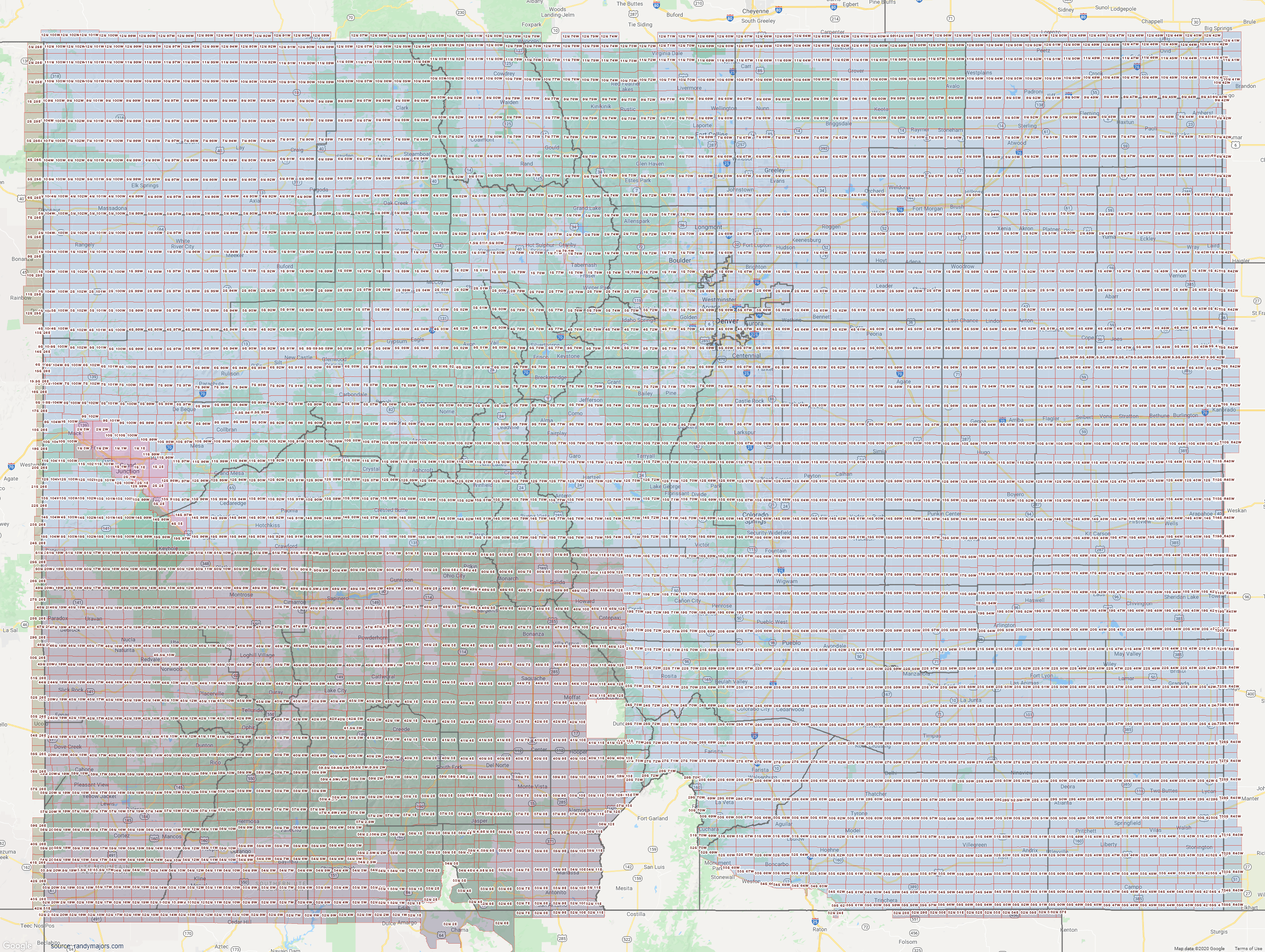 Map of Colorado Section Township Range Map
