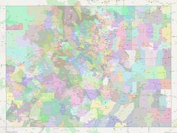 Colorado ZIP Codes Map thumbnail