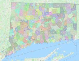 Connecticut ZIP Codes Map thumbnail