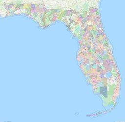 Florida ZIP Codes Map thumbnail