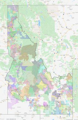 Idaho ZIP Codes Map thumbnail