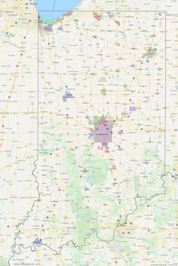 Indiana City Limits Map thumbnail