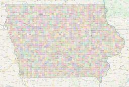 Iowa Civil Township Boundaries Map thumbnail
