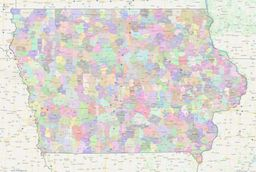 Iowa ZIP Codes Map thumbnail