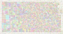 Kansas Civil Township Boundaries Map thumbnail