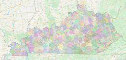 Kentucky ZIP Codes Map thumbnail