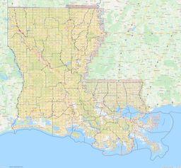 Louisiana Section Township Range Map thumbnail