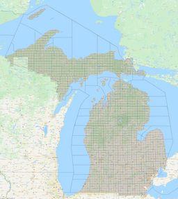 Michigan Section Township Range Map thumbnail