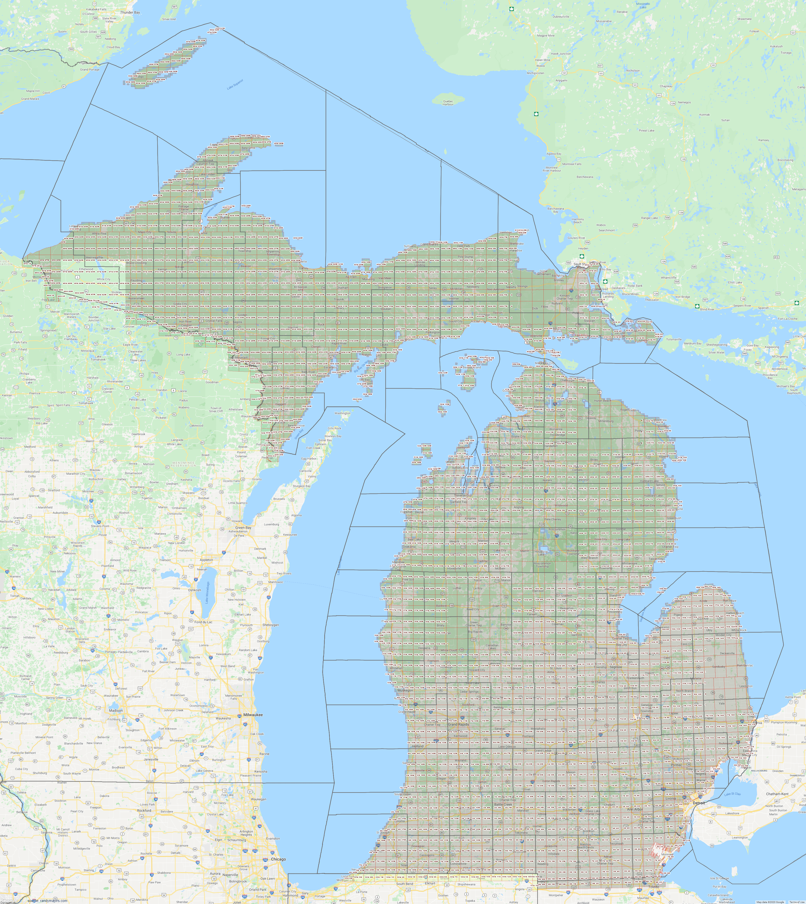 Map of Michigan Section Township Range Map