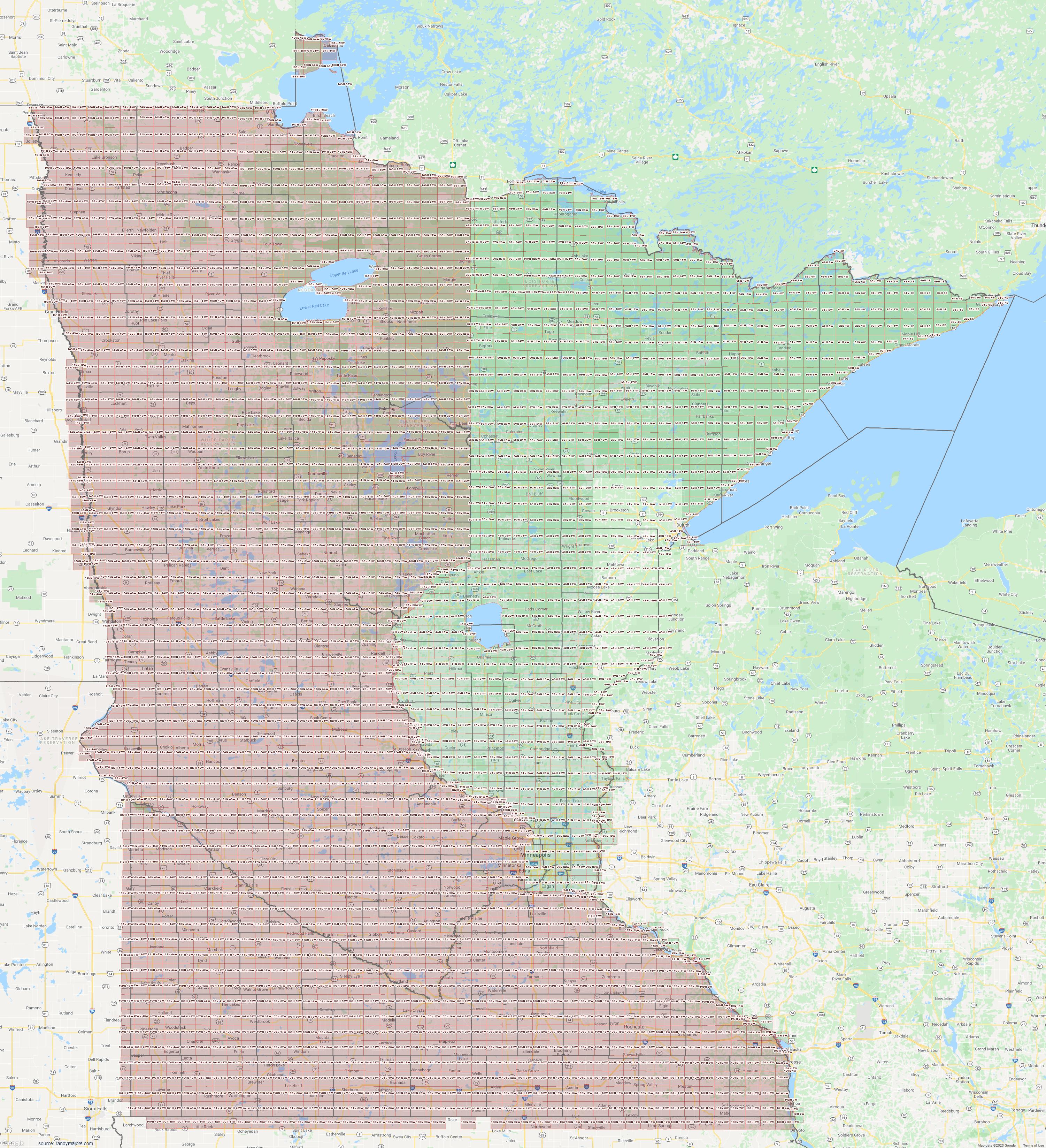 Map of Minnesota Section Township Range Map