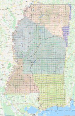 Mississippi Section Township Range Map thumbnail