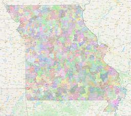 Missouri ZIP Codes Map thumbnail