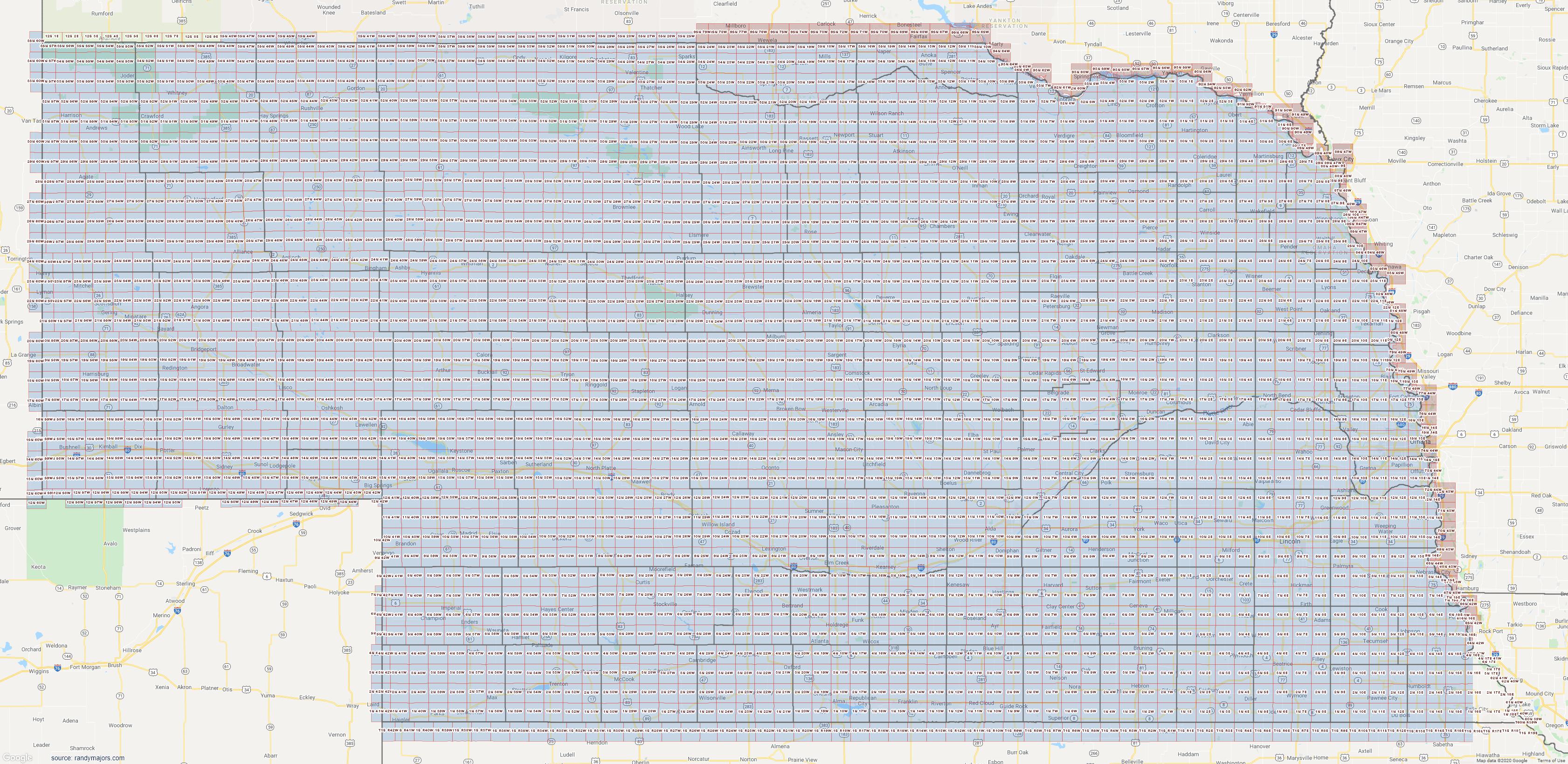 Map of Nebraska Section Township Range Map