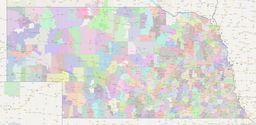 Nebraska ZIP Codes Map thumbnail