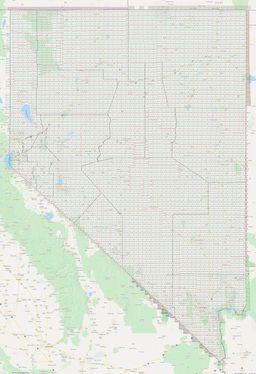 Nevada Section Township Range Map thumbnail