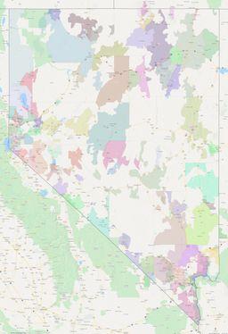 Nevada ZIP Codes Map thumbnail