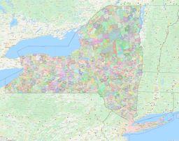 New York ZIP Codes Map thumbnail