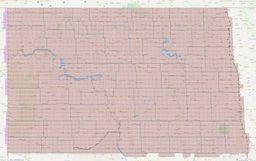 North Dakota Section Township Range Map thumbnail