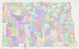 North Dakota ZIP Codes Map thumbnail