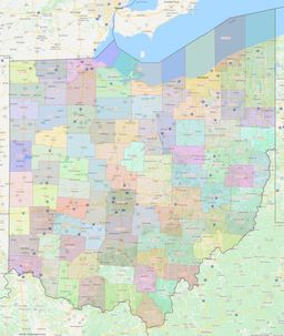 Ohio County Lines Map thumbnail