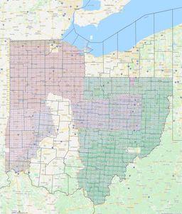 Ohio Section Township Range Map thumbnail