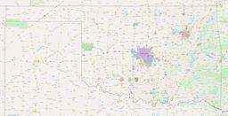 Oklahoma City Limits Map thumbnail