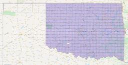 Oklahoma Section Township Range Map thumbnail