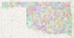 Oklahoma ZIP Codes Map thumbnail