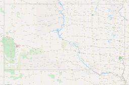 South Dakota City Limits Map thumbnail