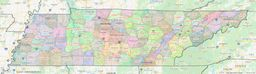 Tennessee County Lines Map thumbnail