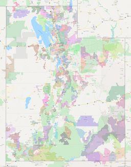Utah ZIP Codes Map thumbnail