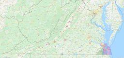 Virginia City Limits Map thumbnail