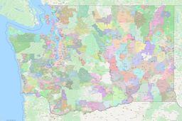 Washington ZIP Codes Map thumbnail