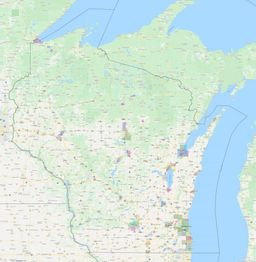 Wisconsin City Limits Map thumbnail