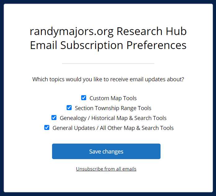 Email Subscription Preferences Form-1