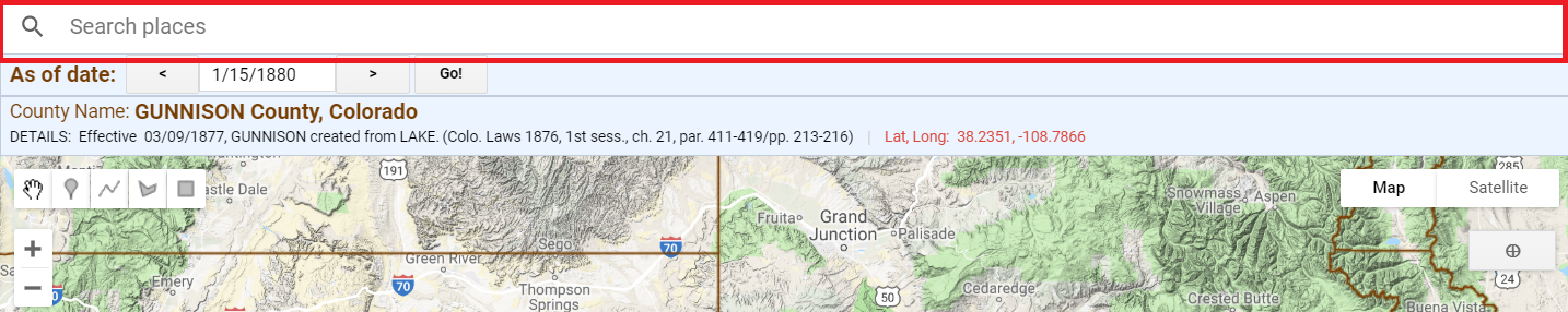Search places on Google Maps with Historical County Lines